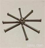 供应不锈钢搓花头,圆柱销,平头钉,销轴