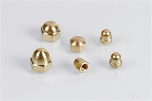 铜盖型螺帽 BRASS DIN1587 DIN917