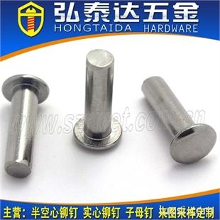 实心不锈钢铆钉,不锈钢实心铆钉,不锈钢实心柳钉