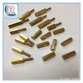 深圳优质车床铜件 黄铜车床件加工 六角紫铜柱