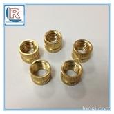 厂家加工铜件 滚花铜螺母 环保耐高温铜螺母