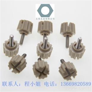厂家生产塑胶头十字手拧螺丝|圆头直纹手柄螺丝|胶头螺丝