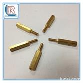 广东铜柱批发M3-M20安防光电铜柱/内外牙六角间隔铜柱