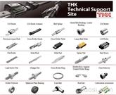 THK直线运动 (LM) 导轨 独特的机械组件,包括滚珠花键、滚珠丝杠和连杆球
