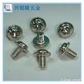 带介子螺丝 镀镍 带垫片十字圆头螺丝PWM2*6