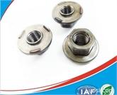 供应法兰焊接螺母M8 六角法兰焊接螺帽 碳钢8级六角焊接螺母