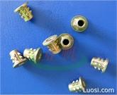 厂家现货 锌合金刺母 高强度带齿刺母 内外牙螺母 家具螺母