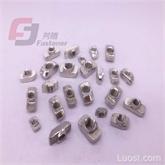 歐標滑塊螺母20/30/40/45-M4/M5/M6/M8 方形螺母塊工業鋁型材配件