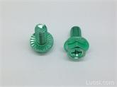 紧固件厂家4.8级汽配螺丝细牙外六角法兰十字六角带垫螺丝M6*8-50