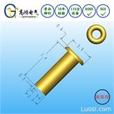 非标库存铆钉 外径2.5 长度7.3 管状全空心铜铆钉 厚度0.3 总长8