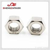 304不锈钢A2-70螺母M6六角螺母DIN934和GB/T6170螺母温州圣展牌