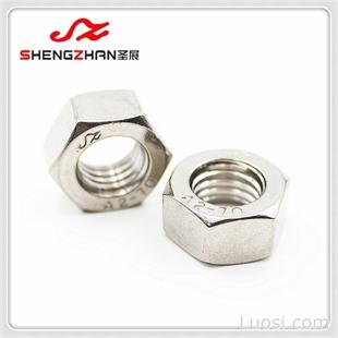 温州圣展M10六角螺母DIN934德标GB/T6170国标304不锈钢A2-70螺母