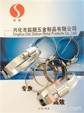 【厂价批发】201 304 不锈钢中美式钢带喉箍(卡箍)订做316喉箍超长超大喉箍