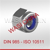 万喜WASI供应DIN985尼龙锁紧螺母ISO7040,碳钢8、10级,不锈钢A4-70