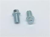 非标定做4.8级8.8级10.9级外六角法兰螺栓汽配阀门螺丝小脑M6-20