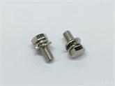 非标4.8 级8.8外六角三组合螺栓不锈钢六角平垫弹垫组合螺丝M5-20