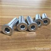 空心螺钉 机牙螺钉 低碳钢电镀环保白锌  通孔