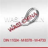 WASICHINA DIN11024碳钢φ2-φ8弹簧卡子弹性开口销现货供应!