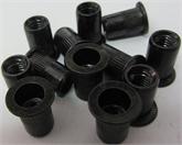 M6-15L平头竖纹黑锌专业生产拉铆螺母