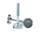 非标6x42mm 一字槽半牙手柄螺丝,电机设备手柄螺丝、机械牙、碳刷螺丝厂家供应