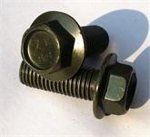 现货销售GB5789大头法兰面螺丝M8*80中碳8.8级 表面达克罗