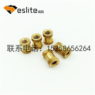 铜卡件铜嵌件螺母自动机加工或台湾机加工公差可达正负2丝