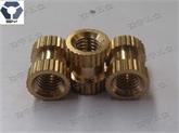 滚花铜螺母,GB809铜花母,嵌入式螺母,压铸螺母,塑胶螺母