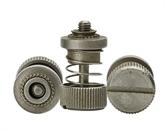 不锈钢一字槽直纹花螺丝定制,深圳世世通非标异形螺丝定制生产厂家