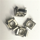 现货供应卡式螺母M5M6M8四方浮动螺帽 不锈钢弹性机柜螺母