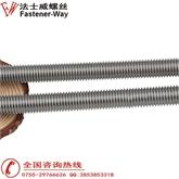 304不锈钢丝杆 不锈钢牙条螺杆 全螺纹通丝M14*100