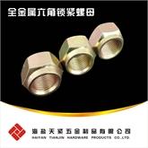 天紧高品质DIN6925全金属锁紧螺母 全金属六角锁紧螺母 六角压点锁紧螺母