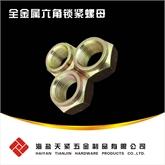 现货QC332全金属锁紧螺母 全金属六角锁紧螺母 六角压点锁紧螺母