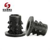 深圳螺丝厂家非标定制异形螺母 M3手拧机械牙环保黑锌碳钢螺母 世世通生产