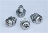 GB/T 9074.4-88十字槽盘头螺钉、弹簧垫圈和平垫圈组合件M4X8