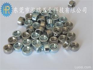 厂家直销冷镦圆形压铆螺母S-M4-0 M4-1 M4-2 M4-3镀锌螺帽  304不锈钢铆螺母现货