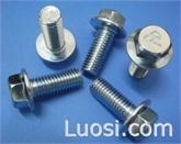 供应12.9级高强度标准紧固件带齿法兰面螺栓螺丝 六角法兰面螺栓螺丝 DIN6921
