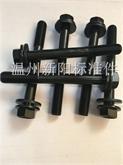 厂家直销 高强度10.9级镀锌发黑外六角法兰面螺栓标准件紧固件