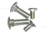 不锈钢 SUS304美制圆头方颈马车螺栓 1/4-20规格