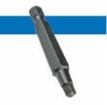 Bossard BN 10318 方形螺丝刀刀头,1/4英寸 用于内八角盘头螺钉,长型