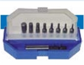 Bossard BN 20008 螺丝刀刀头,1/4英寸 用于内六角螺钉,短型 钢  热处理