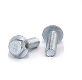 镀锌六角法兰面螺栓 高强度镀锌国标GB16674法兰面螺丝 六角法兰螺丝