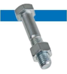 Bossard BN 77 六角头螺钉 部分螺纹 钢  4.6 / 6.8 蓝色镀锌