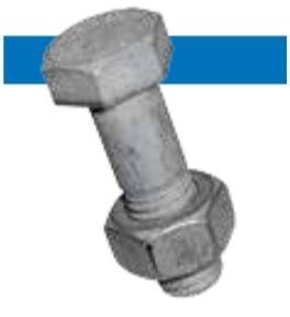 Bossard BN 87 六角头螺钉 带六角螺母,用于钢结构 钢  4.6 热浸镀锌