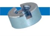 Bossard  BN 220   开槽圆螺母  钢    蓝色镀锌