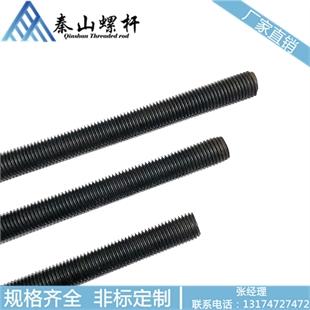 M22 国标 牙条丝杆 8.8级丝杆 1米 高强度丝杆 全牙牙条 发黑丝杆 热处理牙条 淬火 螺杆