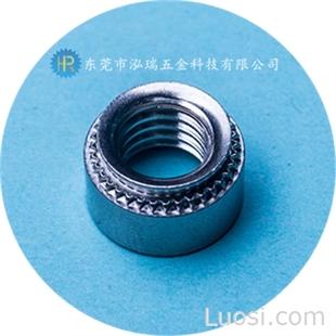压铆螺母 304不锈钢花齿螺母 碳钢环保蓝白锌压铆螺母 机箱/机柜/压板螺母 厂家直销