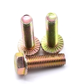 厂家生产镀彩锌10.9级全螺纹法兰面螺栓外六角法兰螺丝