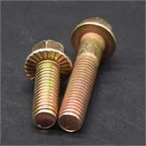10.9级镀黄锌 M8/10/12/16高强度法兰面螺栓外六角法兰螺丝