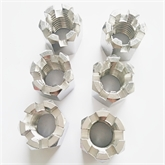 正宗201 304 316不锈钢六角开槽螺母GB6178槽型螺丝帽非标件定制加工