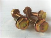 专业生产法兰面螺栓 高强度法兰螺丝镀彩锌8.8/10.9级40CR35CRMO外六角法兰螺栓